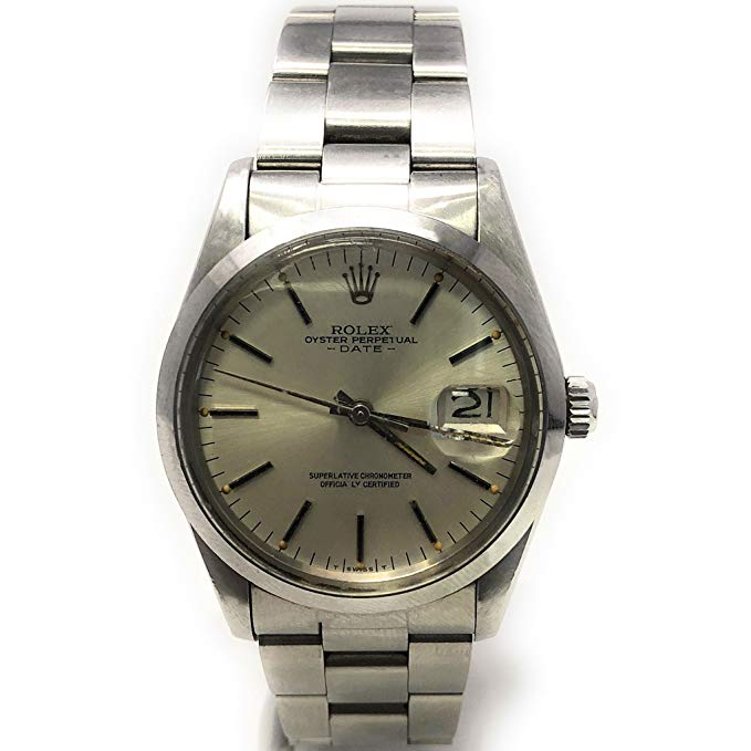 Rolex Date swiss-automatic mens Watch 15000 (Certified Pre-owned)